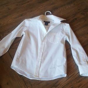 Boys white button up shirt
